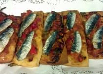 #coca de sardinas en #ajoarriero