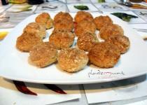 #receta panellets de calabaza y coco