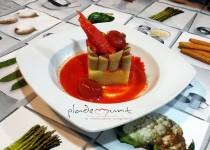 #macarrones rellenos de olivada con atún a la vizcaina