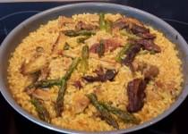 #arroz con secreto, boletus y trigueros