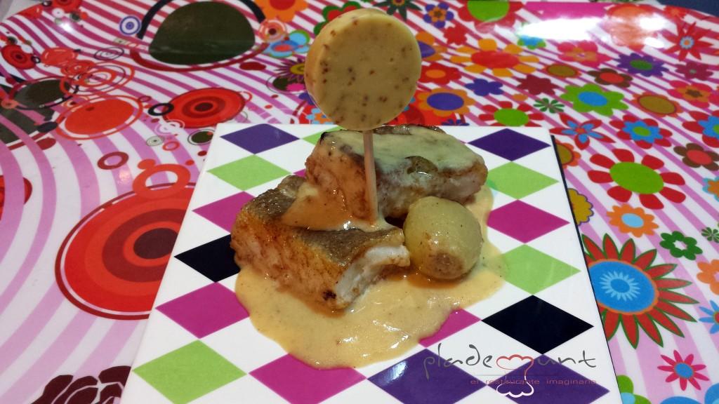 #bacalao a la miel y piruleta de mostaza