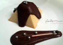 #flan de almendras y chocolate