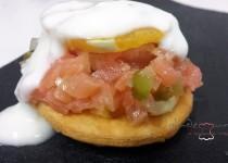 tartar de salmón marinado