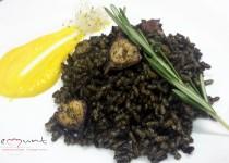 #arroz negro con pulpo y all i oli de azafrán