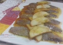 #sardinas curadas con manzana, soja y limón