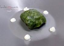 #pasta rellena de espinacas a la catalana